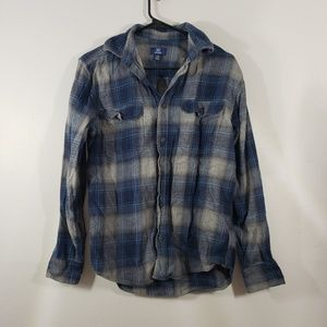 !SALE 5 FOR $25! George Plaid Casual Button Front